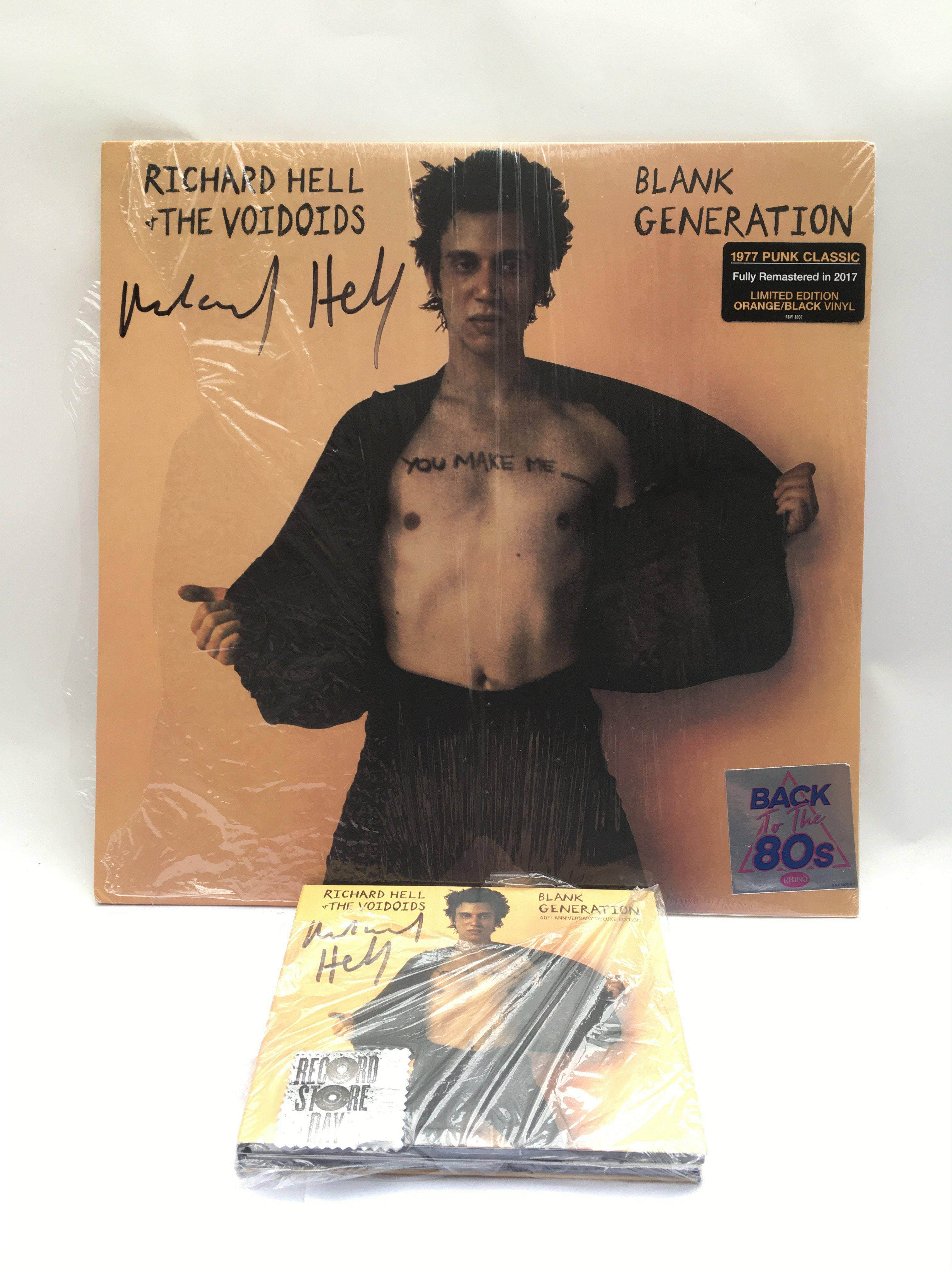 A Richard Hell signed coloured vinyl 2017 reissue