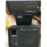 A Carlsbro GRX7 powered mixer, a Studio Research p