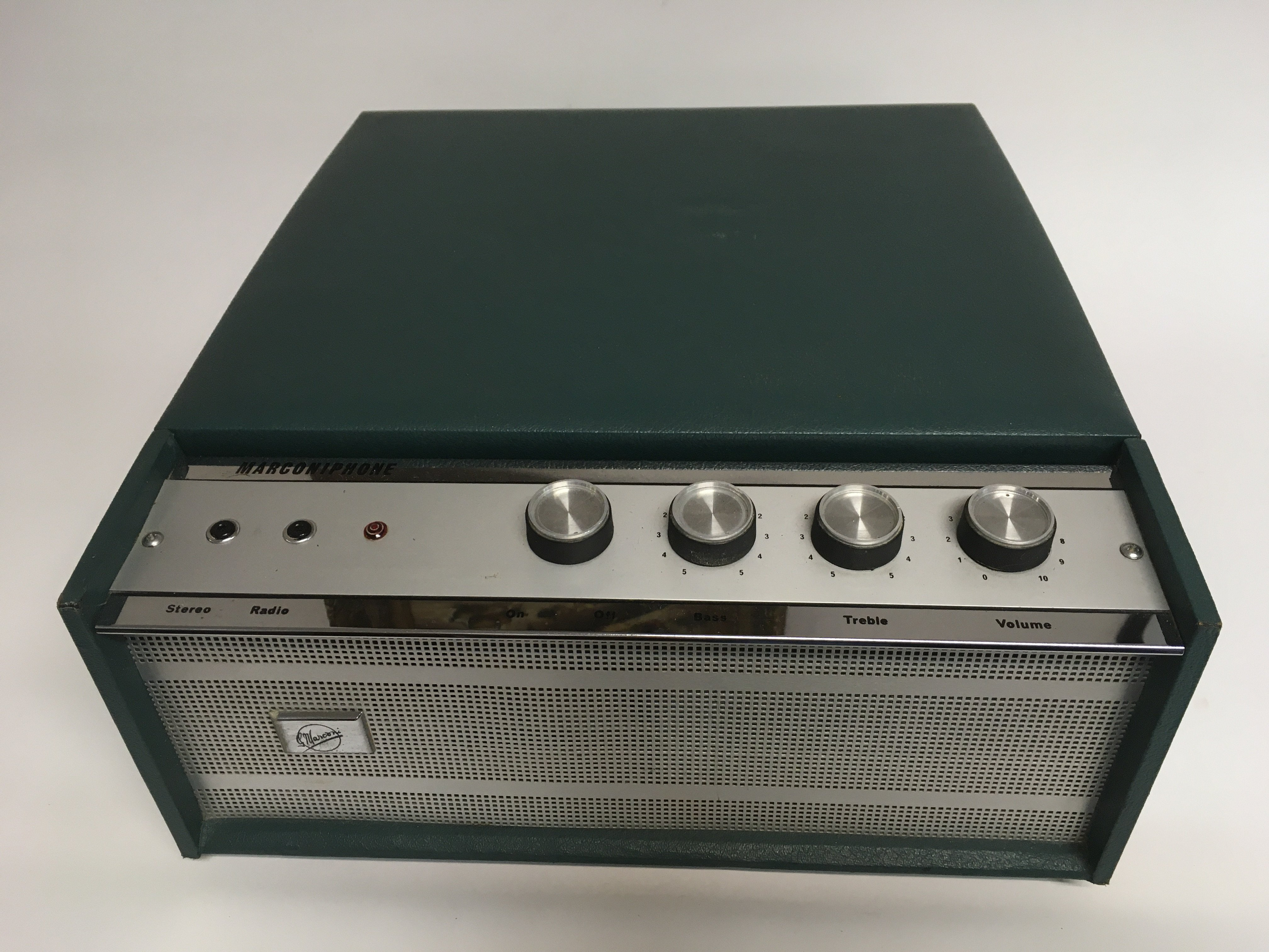 A vintage Marconiphone autochanger record player. - Image 2 of 2