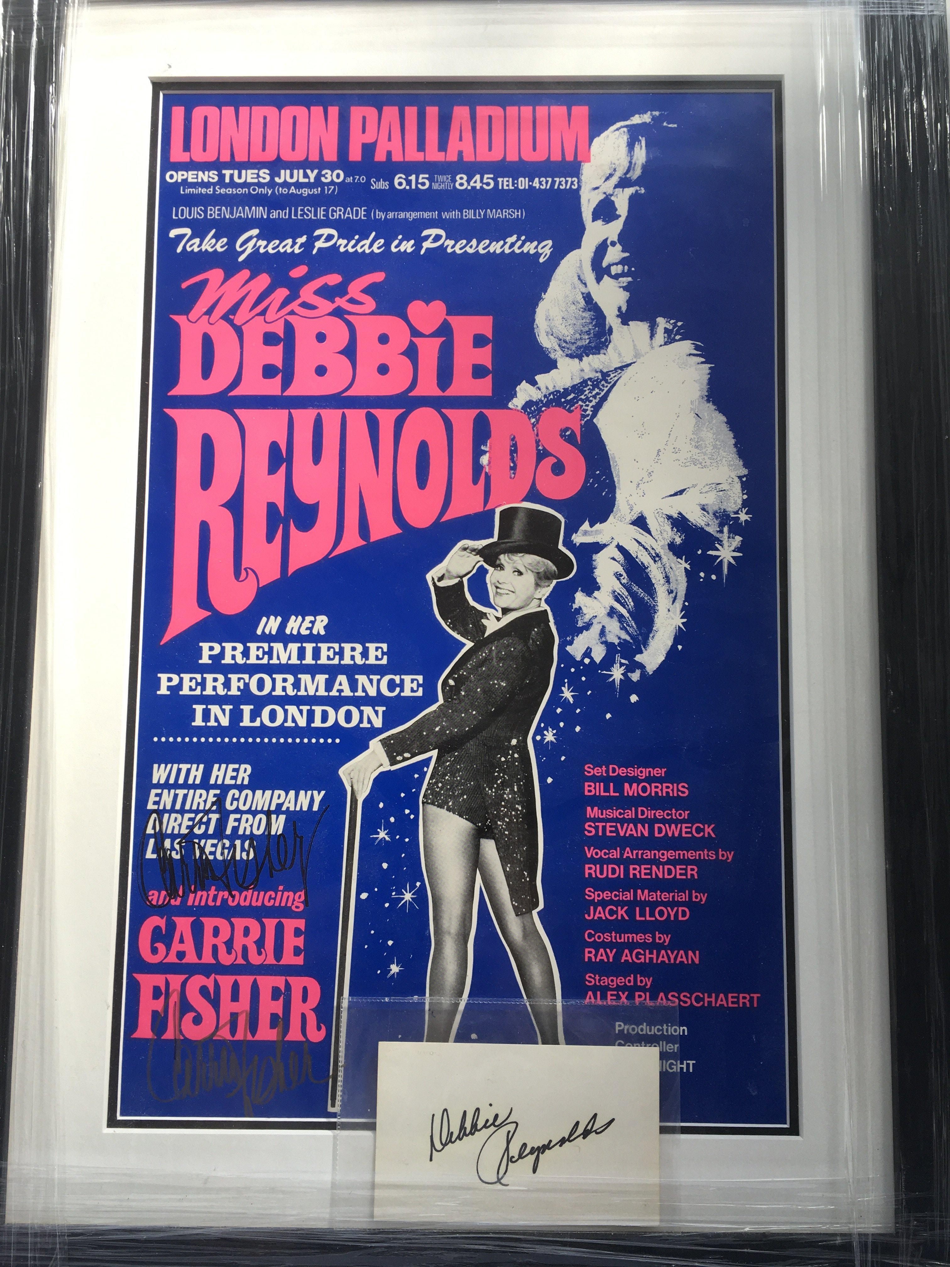 A framed and glazed signed poster for a performanc