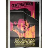 A US one sheet film poster for 'Coogan's Bluff', 1