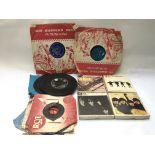 Four Beatles reel to reel albums, various 7inch si