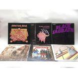 Six Black Sabbath LPs, mostly NEMS represses, comp
