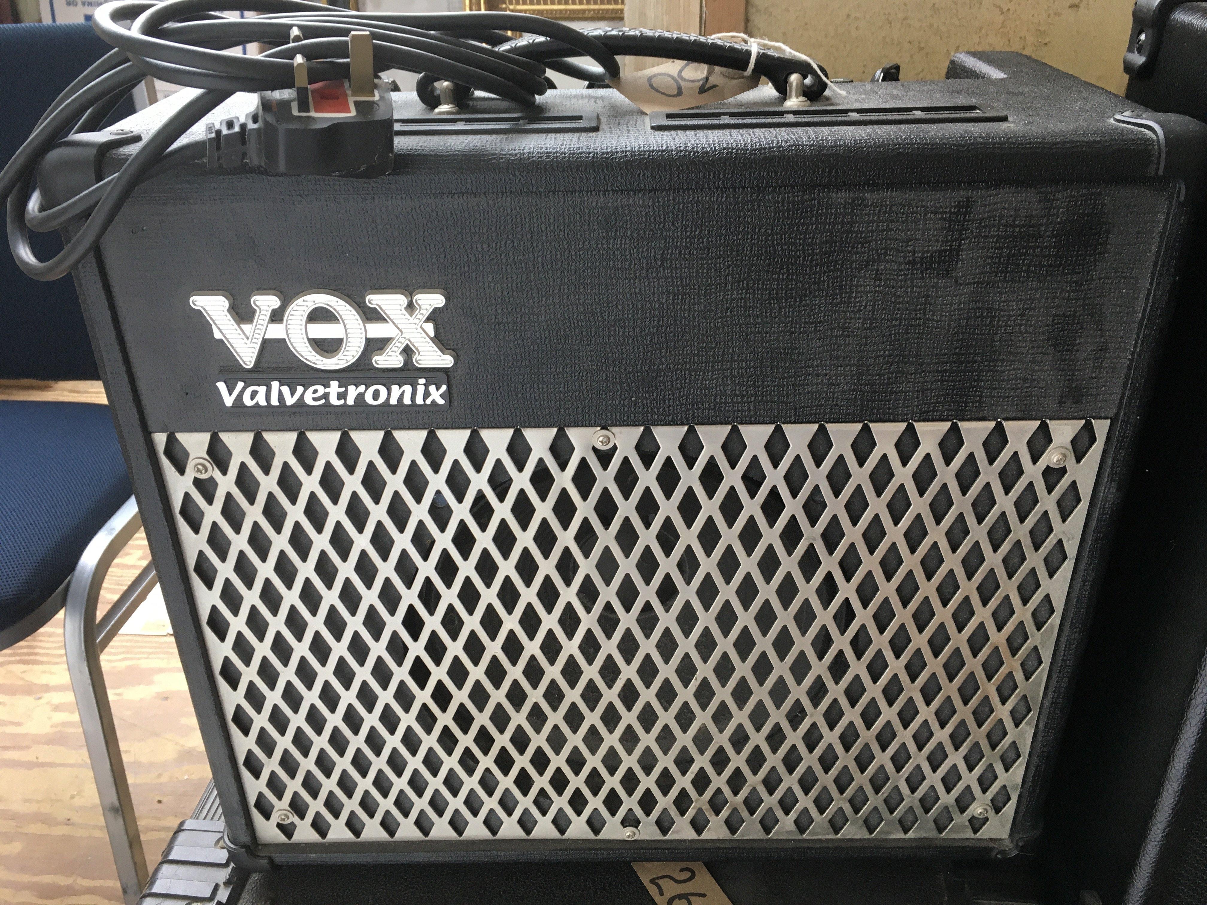 A Vox Valvetronix AD30VT guitar amplifier.