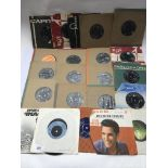 A collection of mainly Elvis Presley 7inch singles