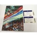 A signed Take That 2015 tour program with tickets