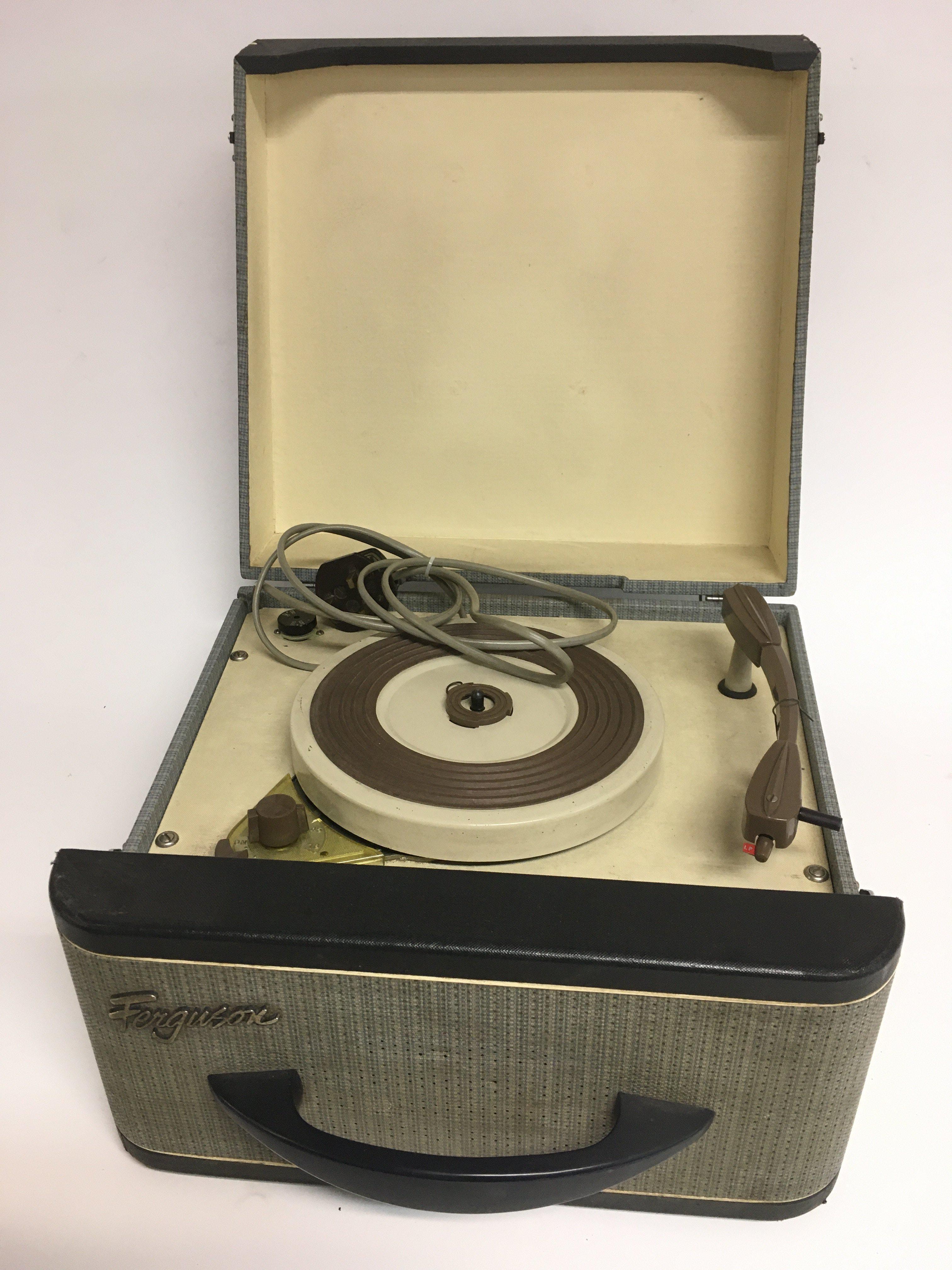 A vintage Ferguson single play record player. Full