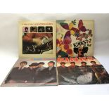 Four early UK pressings of Kinks LPs comprising th