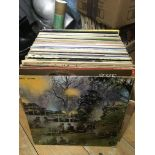 A box of LPs by various artists including The Nice