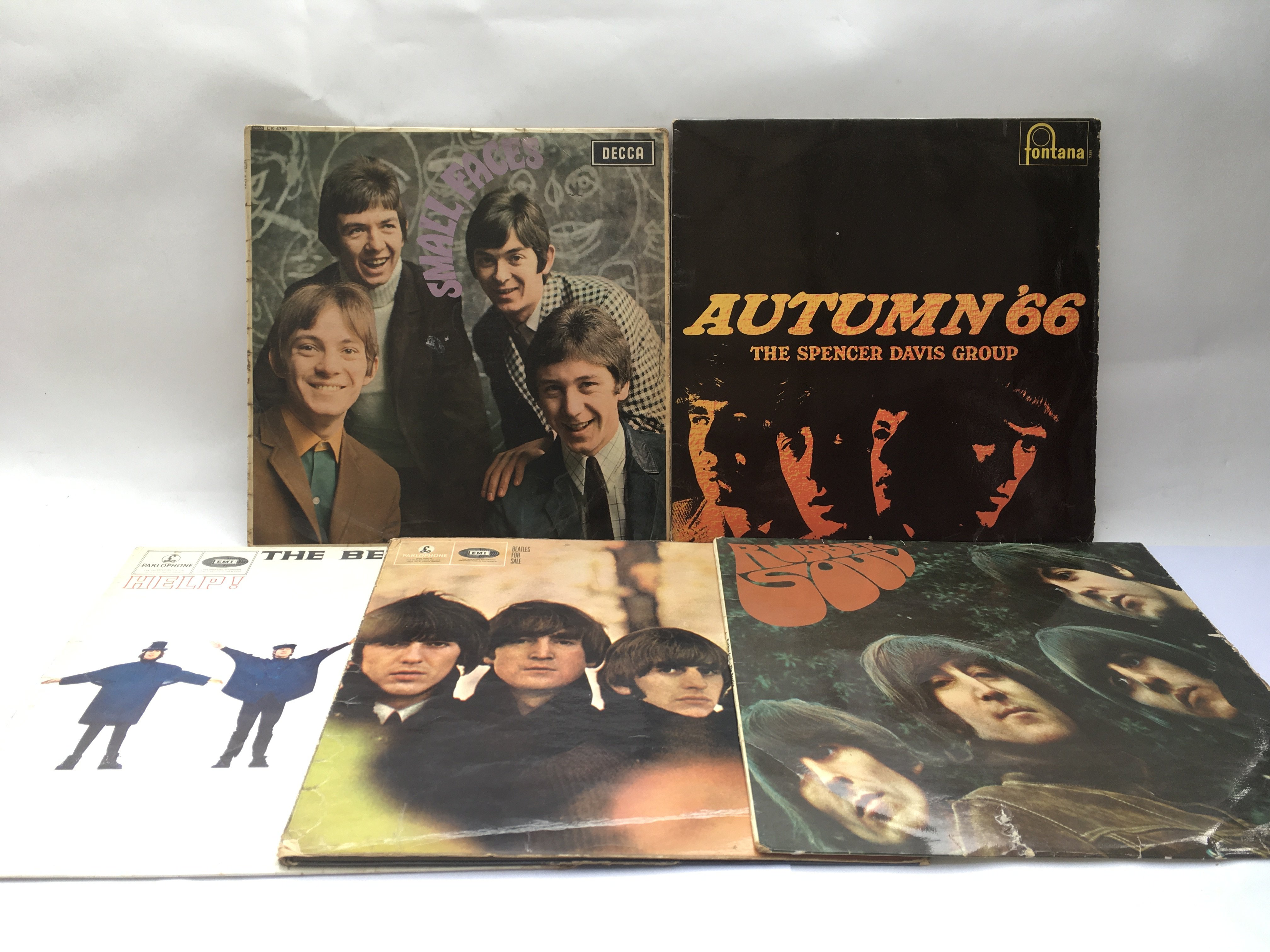 Three early UK issue Beatles LPs, an early issue S