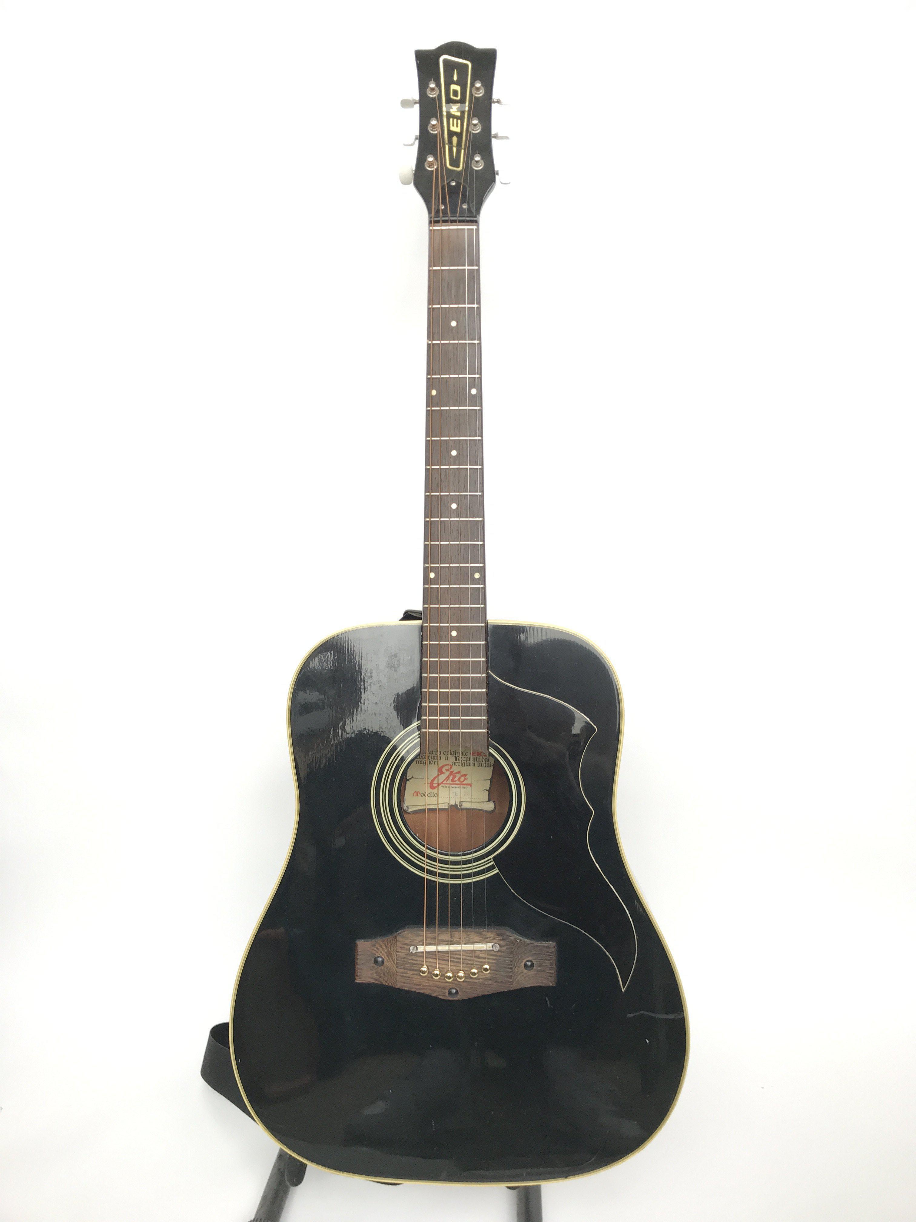A vintage Eko E20 acoustic guitar. This circa 1979