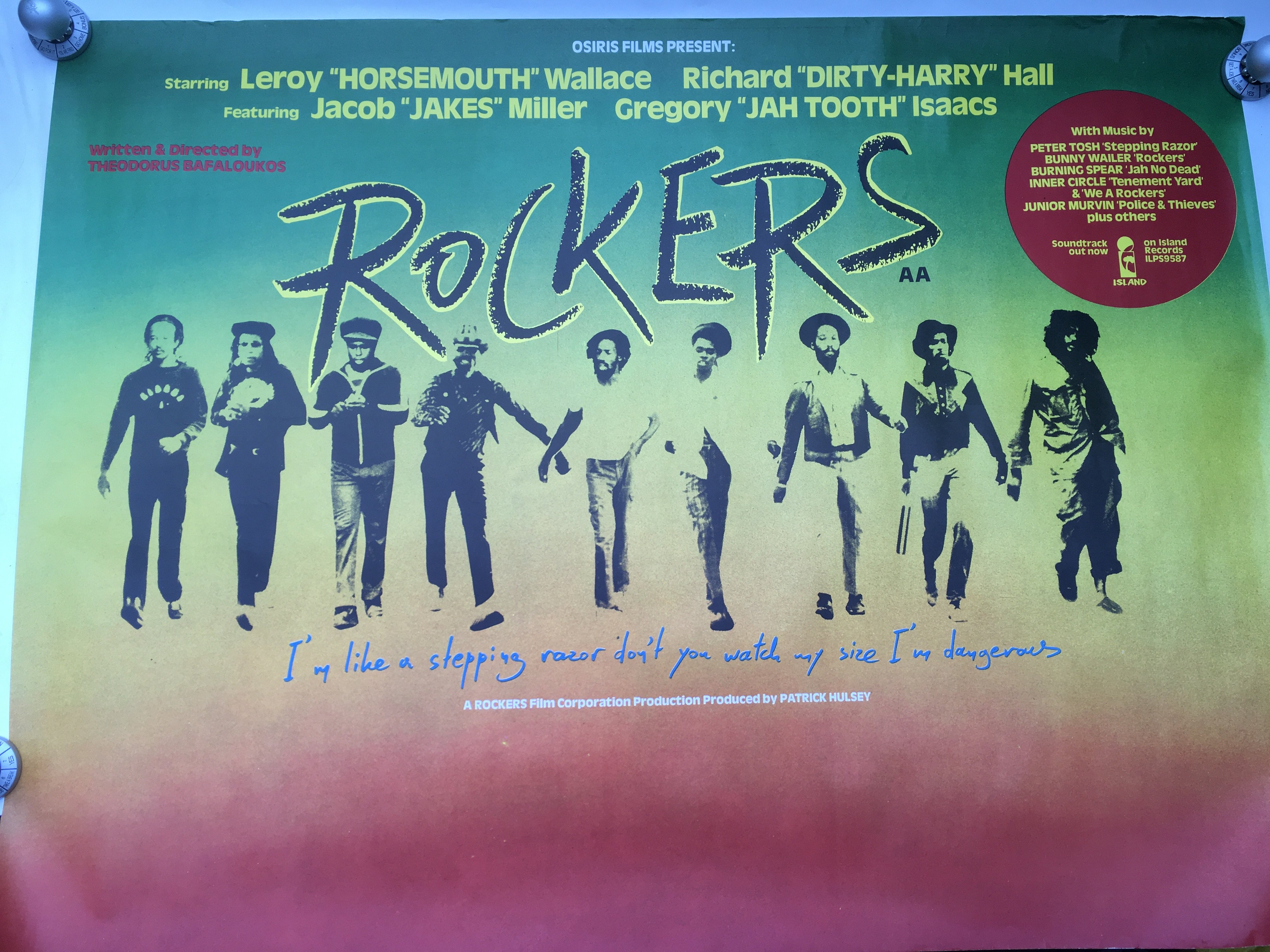 Two original reggae film posters, one for 'Country - Image 2 of 3