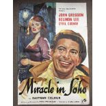 A UK one sheet film poster for 'Miracle In Soho',