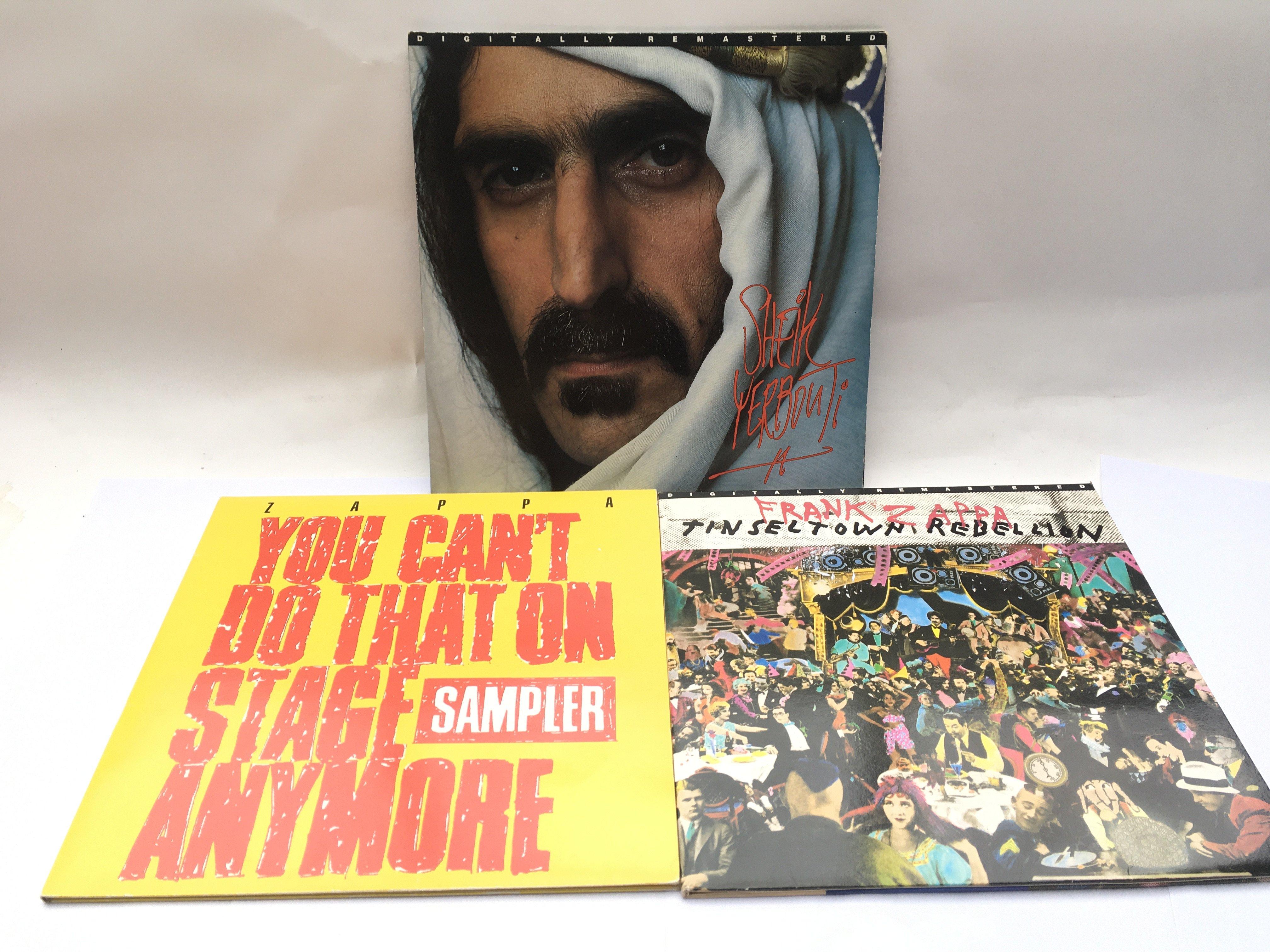 Three Frank Zappa LPs comprising 'Sheik Yerbouti',