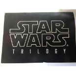 A Star Wars trilogy advertising board, approx 84cm
