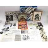 A collection of Beatles fan club materials, poster