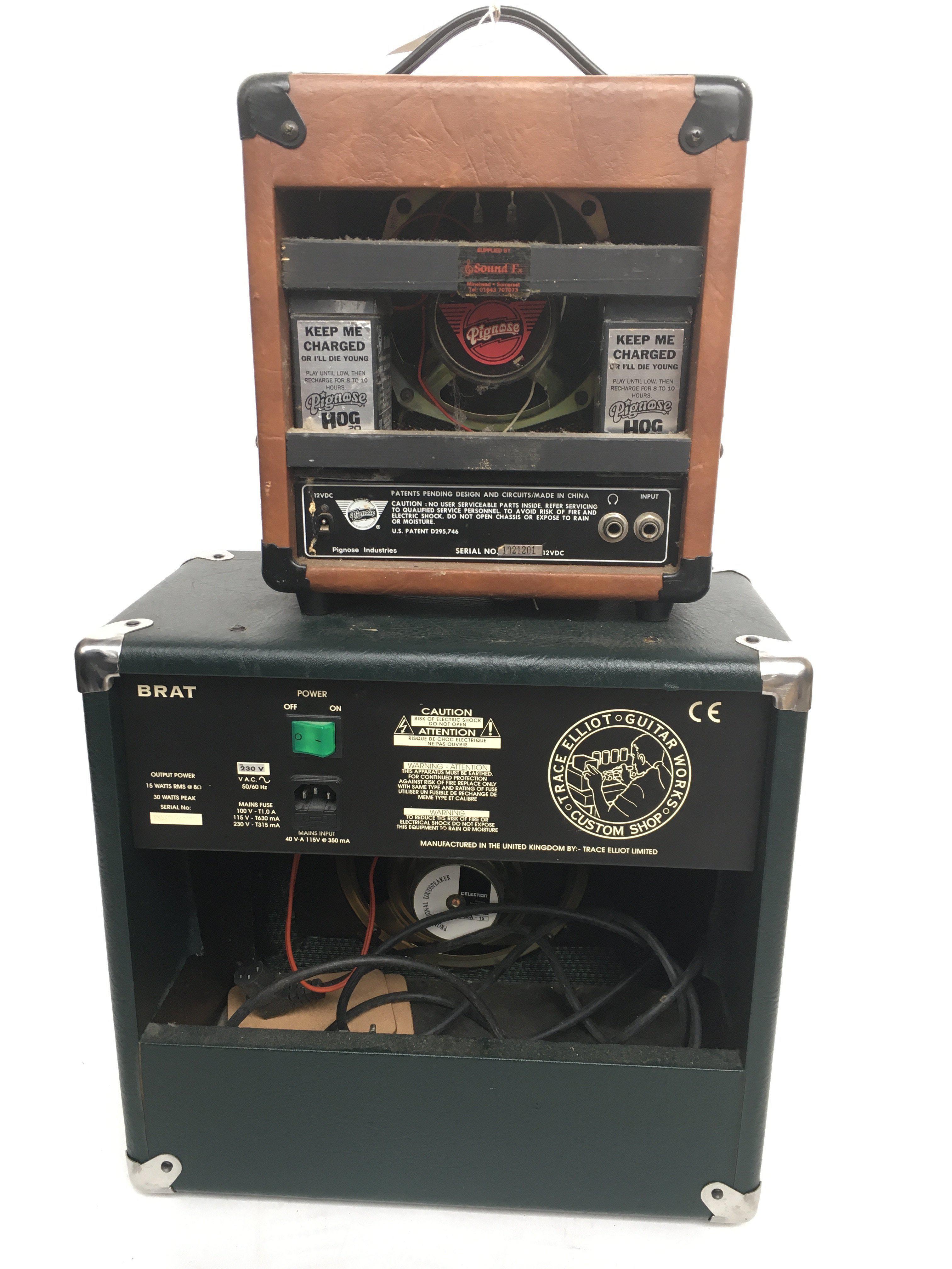 A Pignose Hog 20 guitar amplifier together with a - Image 2 of 2