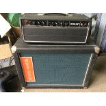 A vintage Kelly valve bass amp head and cabinet (2