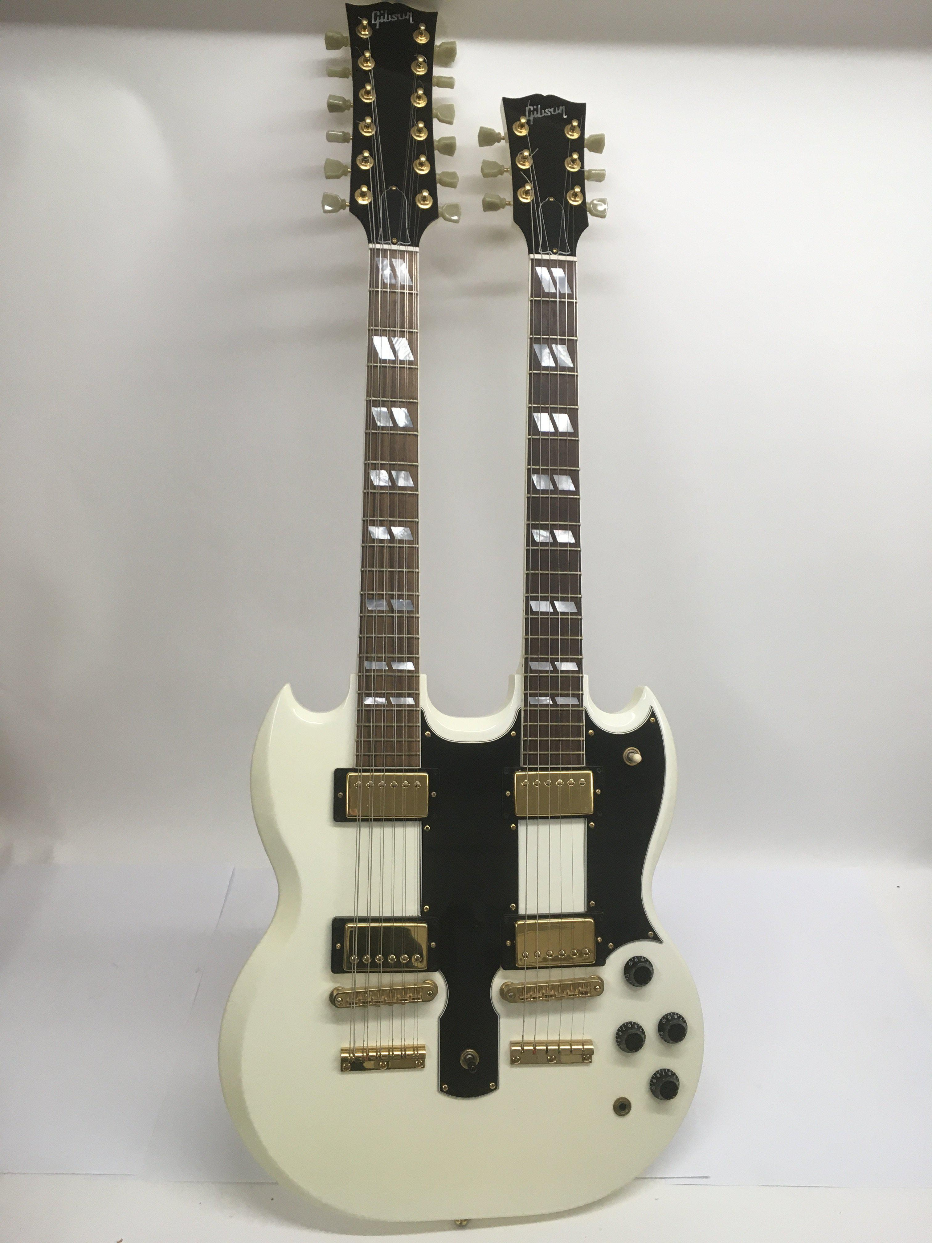 A Gibson double neck 6 and 12 string electric guit