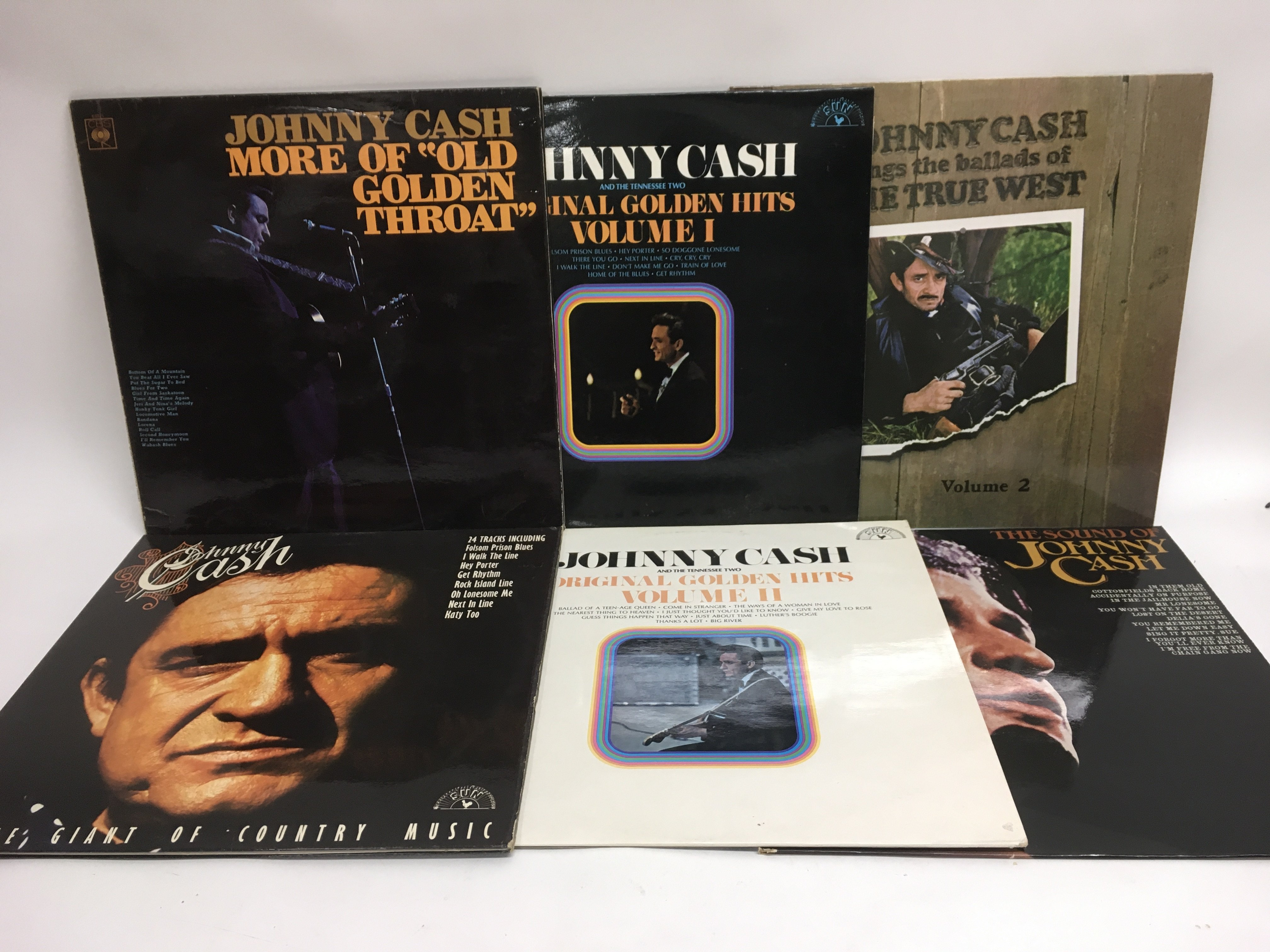 Sixteen Johnny Cash LPs. - Image 2 of 2