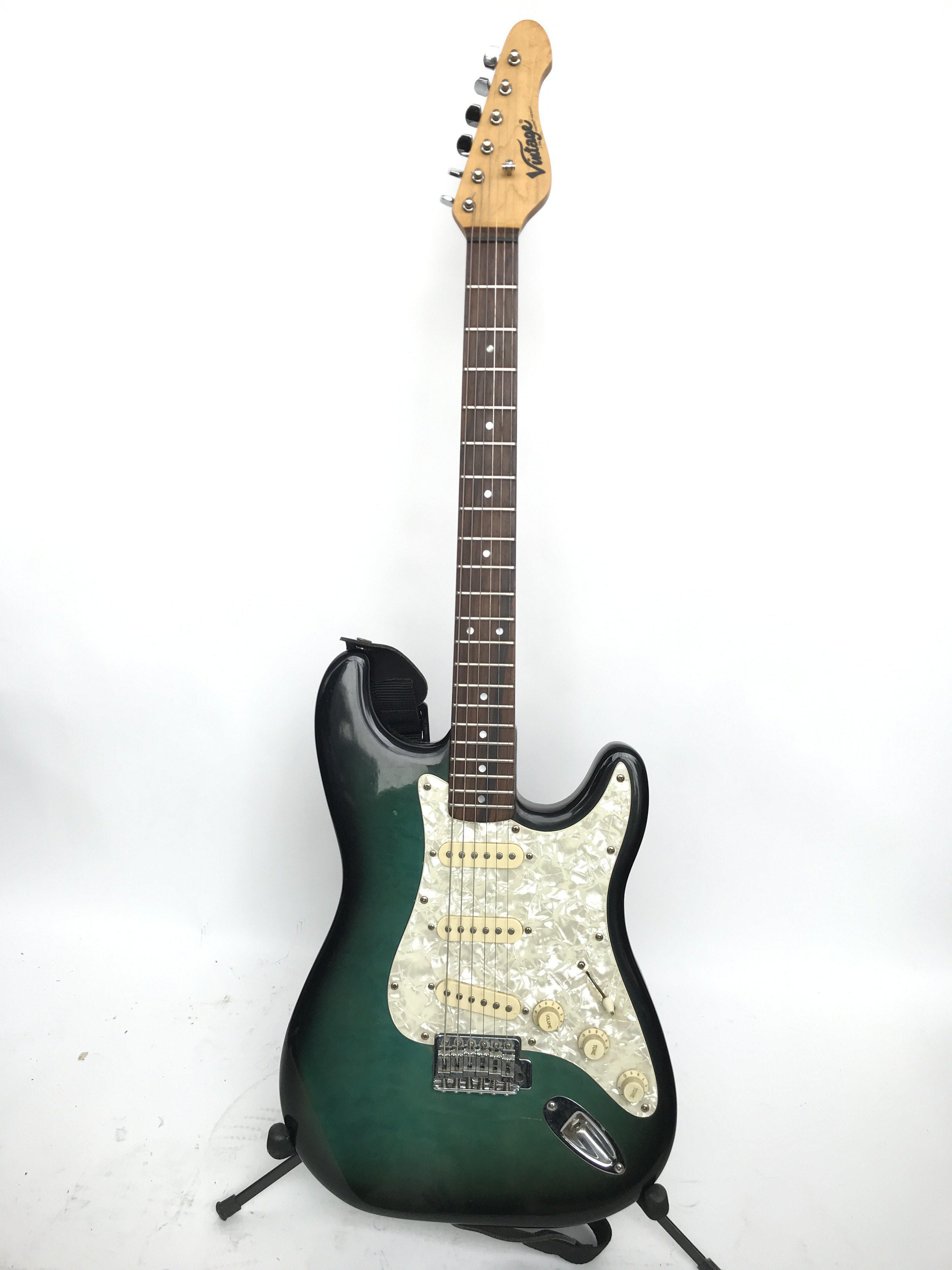 A Vintage Stratocaster style electric guitar with