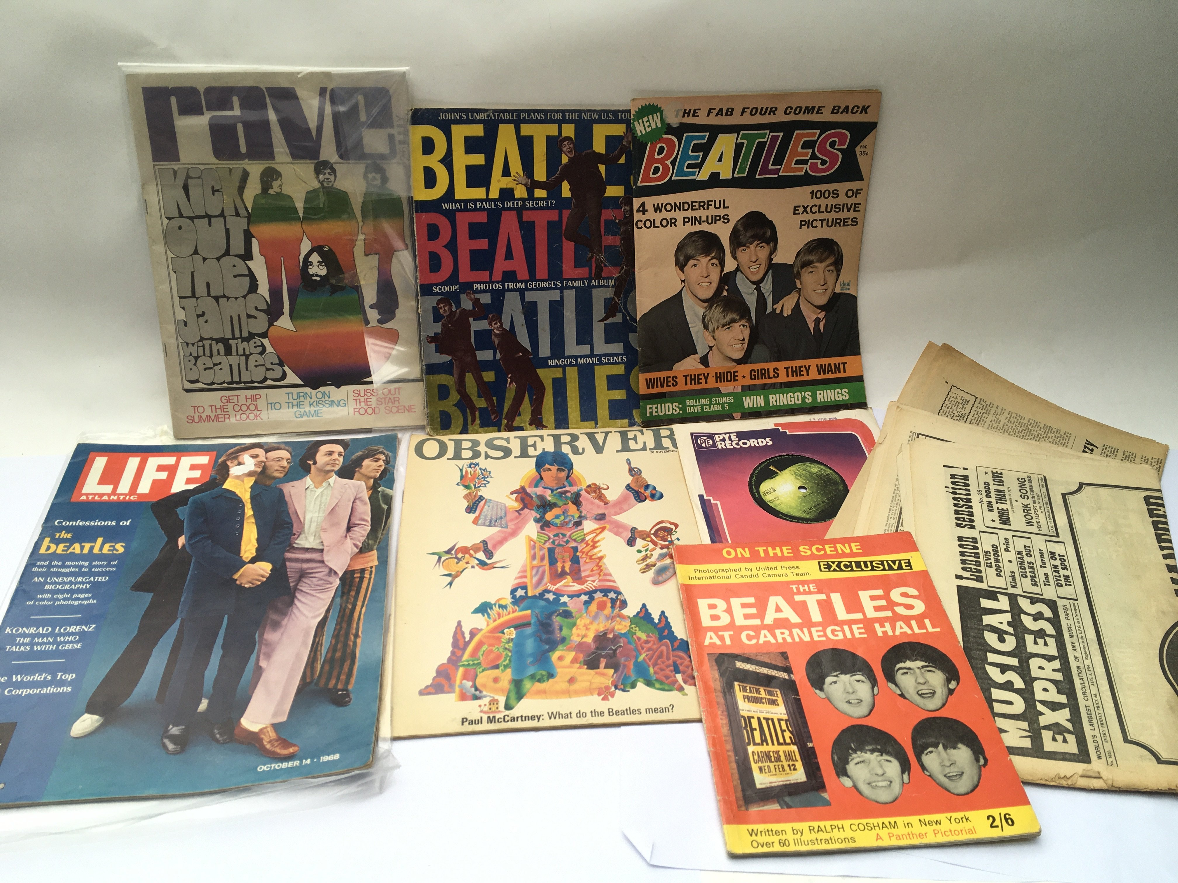 A collection of 1960s Beatles album adverts, a Get - Image 2 of 2