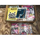 A box of Beatles magazines, Record Collector magaz