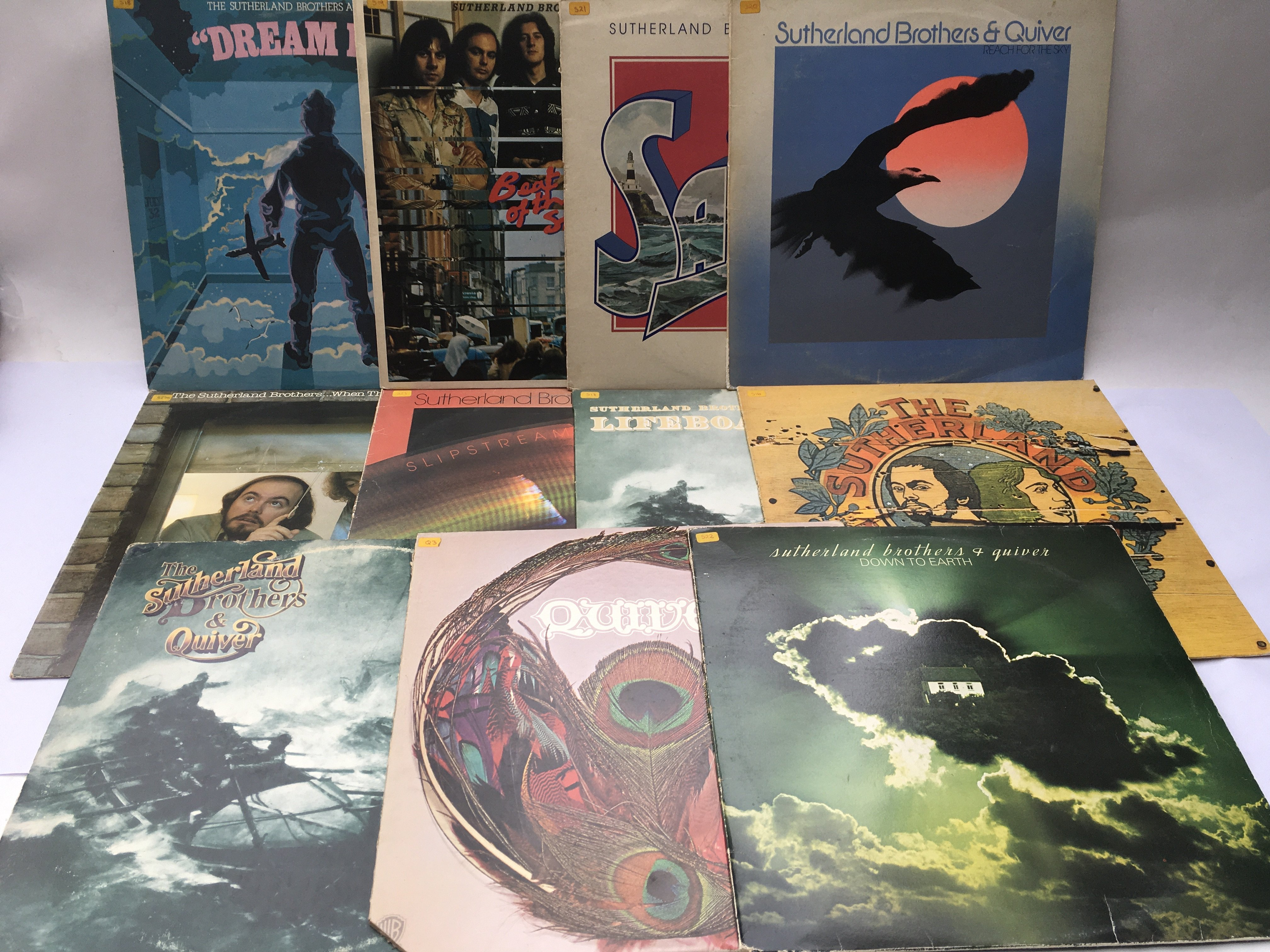Eleven Sutherland Brothers and Quiver LPs.