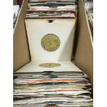 A box of 1960s and 70s 7inch demo discs, various a