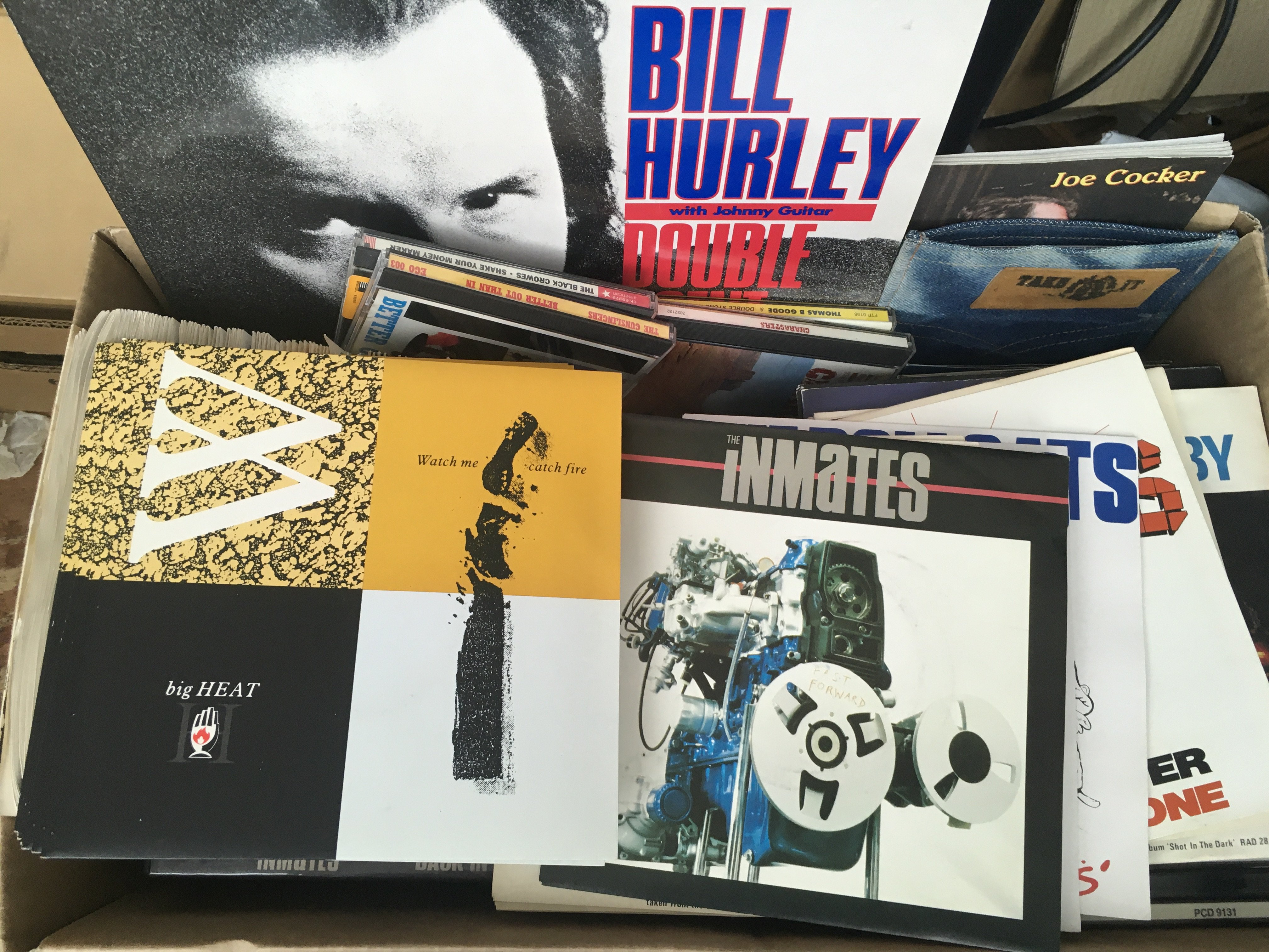 A box of Bill Hurley & The Inmates records and a c - Image 2 of 2