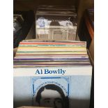 Two boxes of dance band music LPs.
