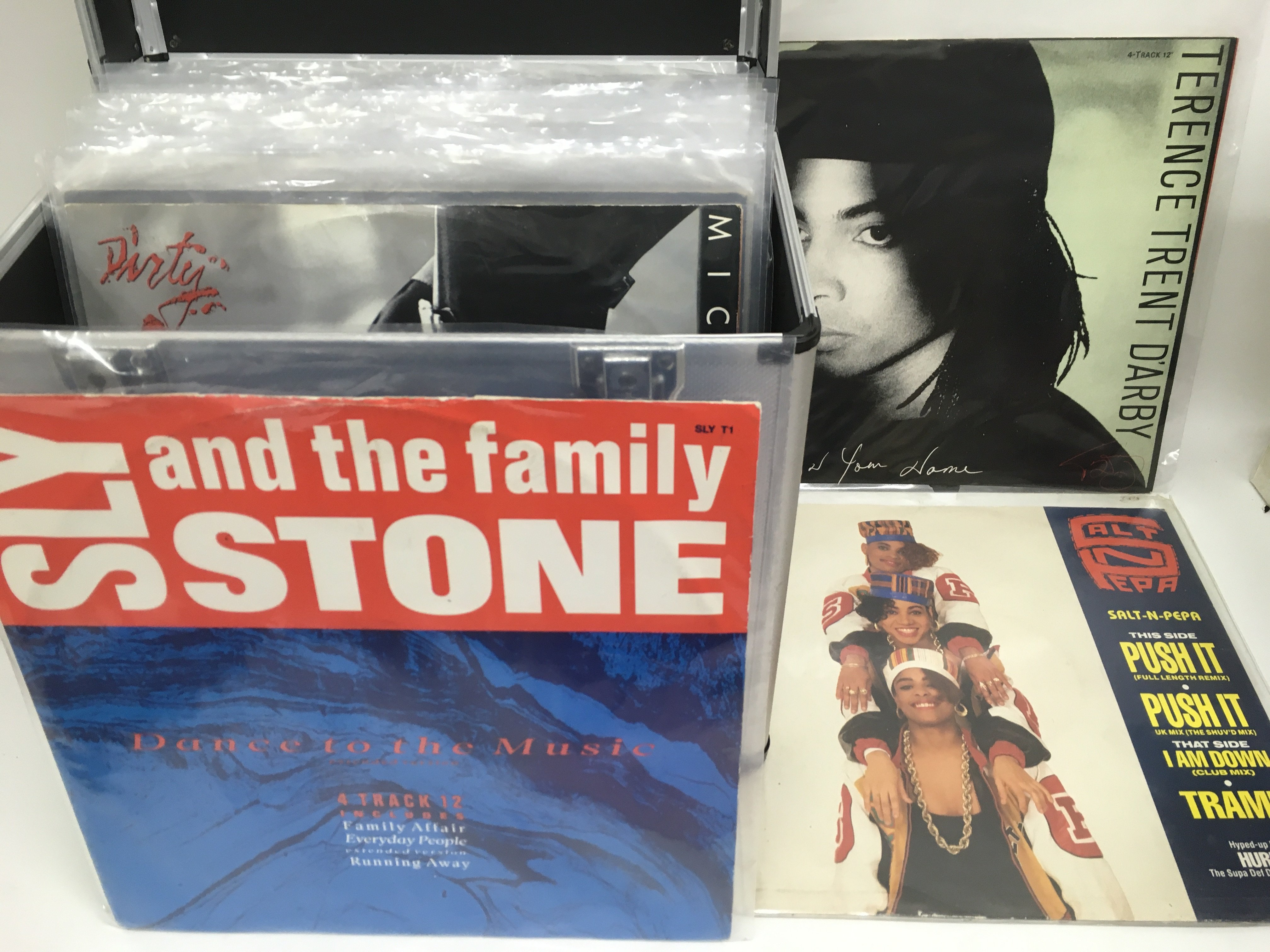 Three record cases of mainly 80s and 90s pop 12inc - Image 3 of 3