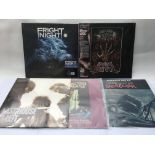 Five soundtrack LPs comprising a sealed and mint l
