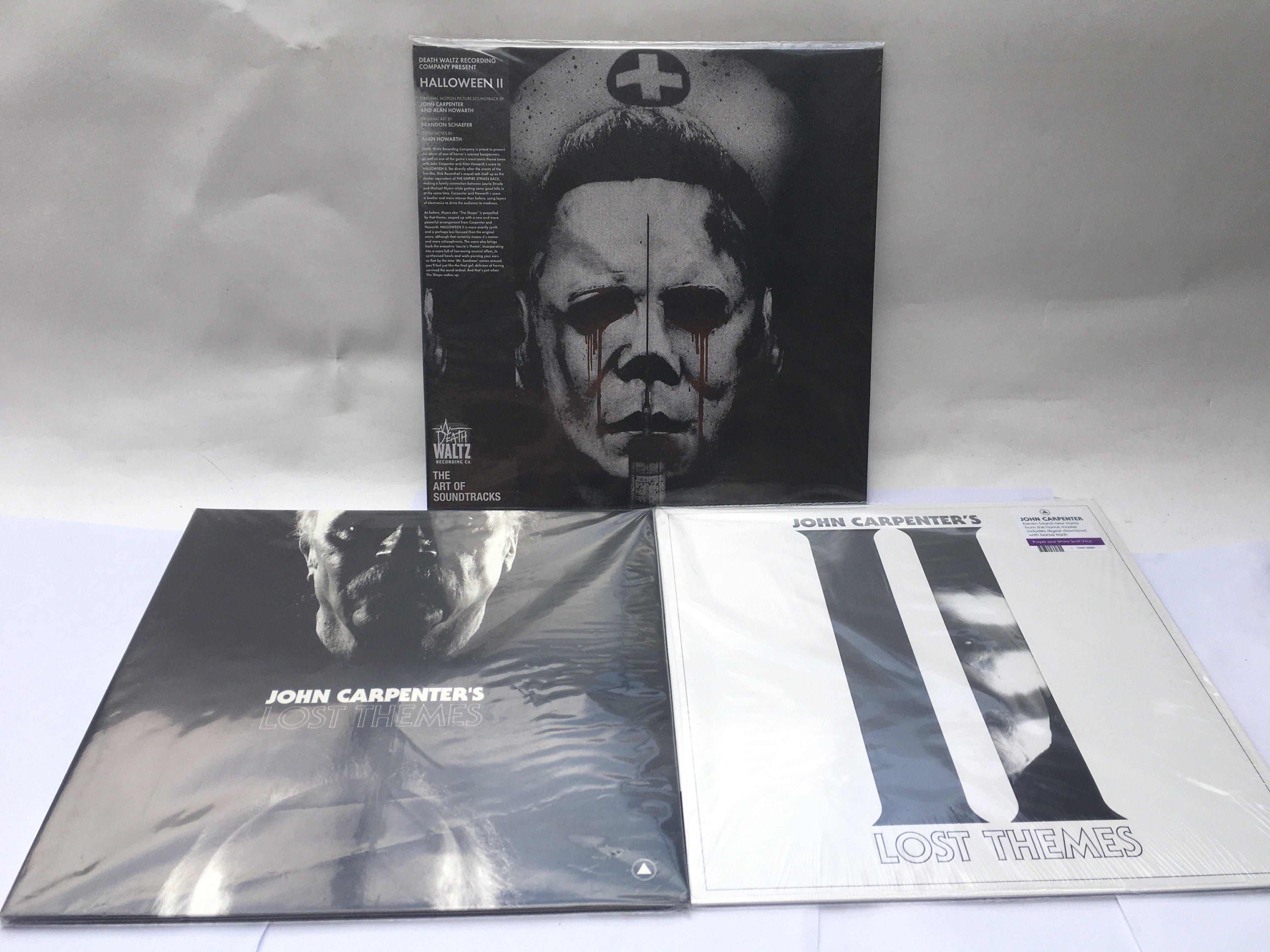 Three 180g John Carpenter soundtrack LPs comprisin
