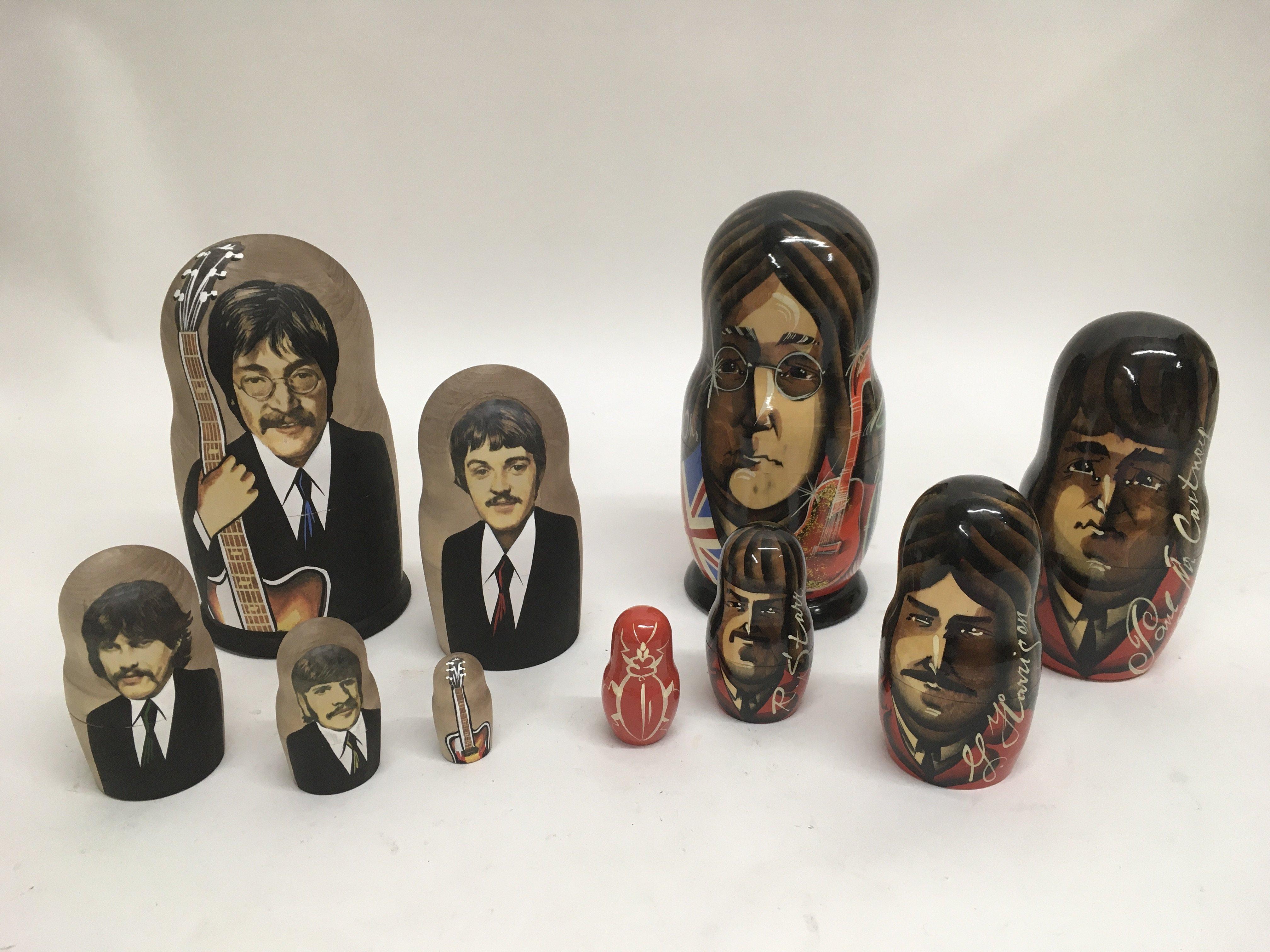 Four boxed Coalport John Lennon mugs and coasters - Image 2 of 2