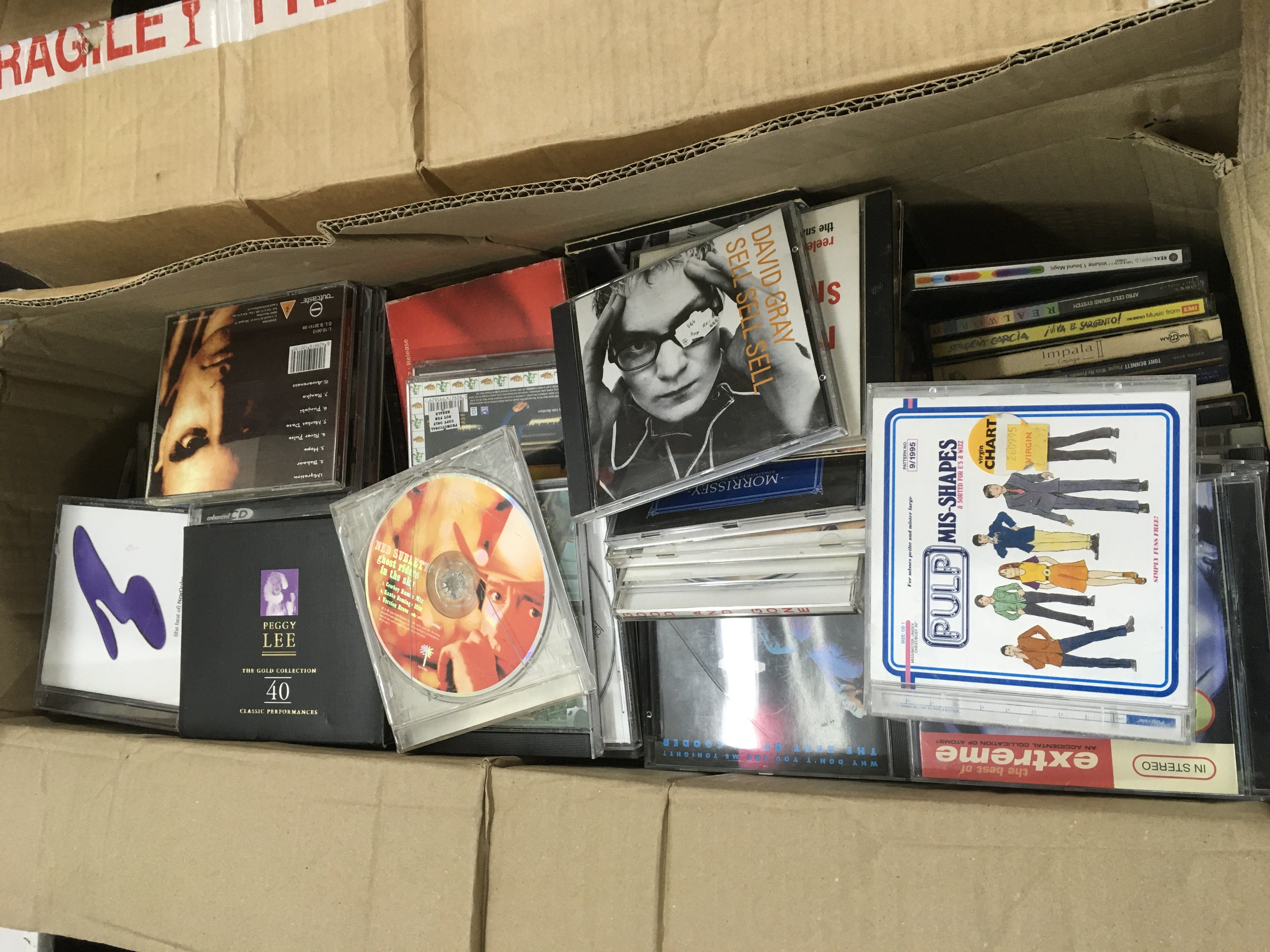 Four boxes of CDs, various artists. - Image 8 of 8