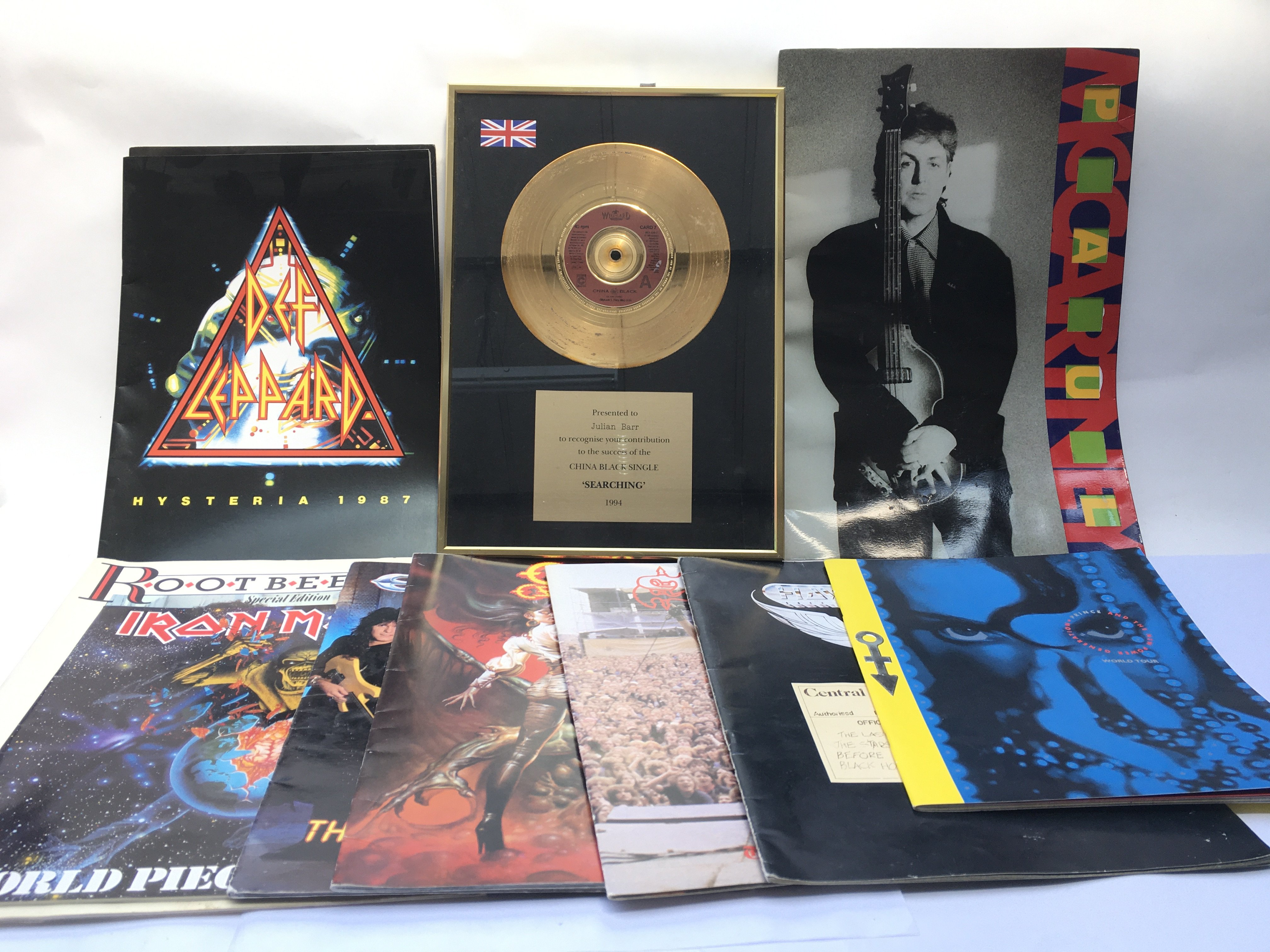 A collection of tour programs, various artists inc