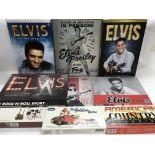 A collection of Elvis Presley memorabilia includin