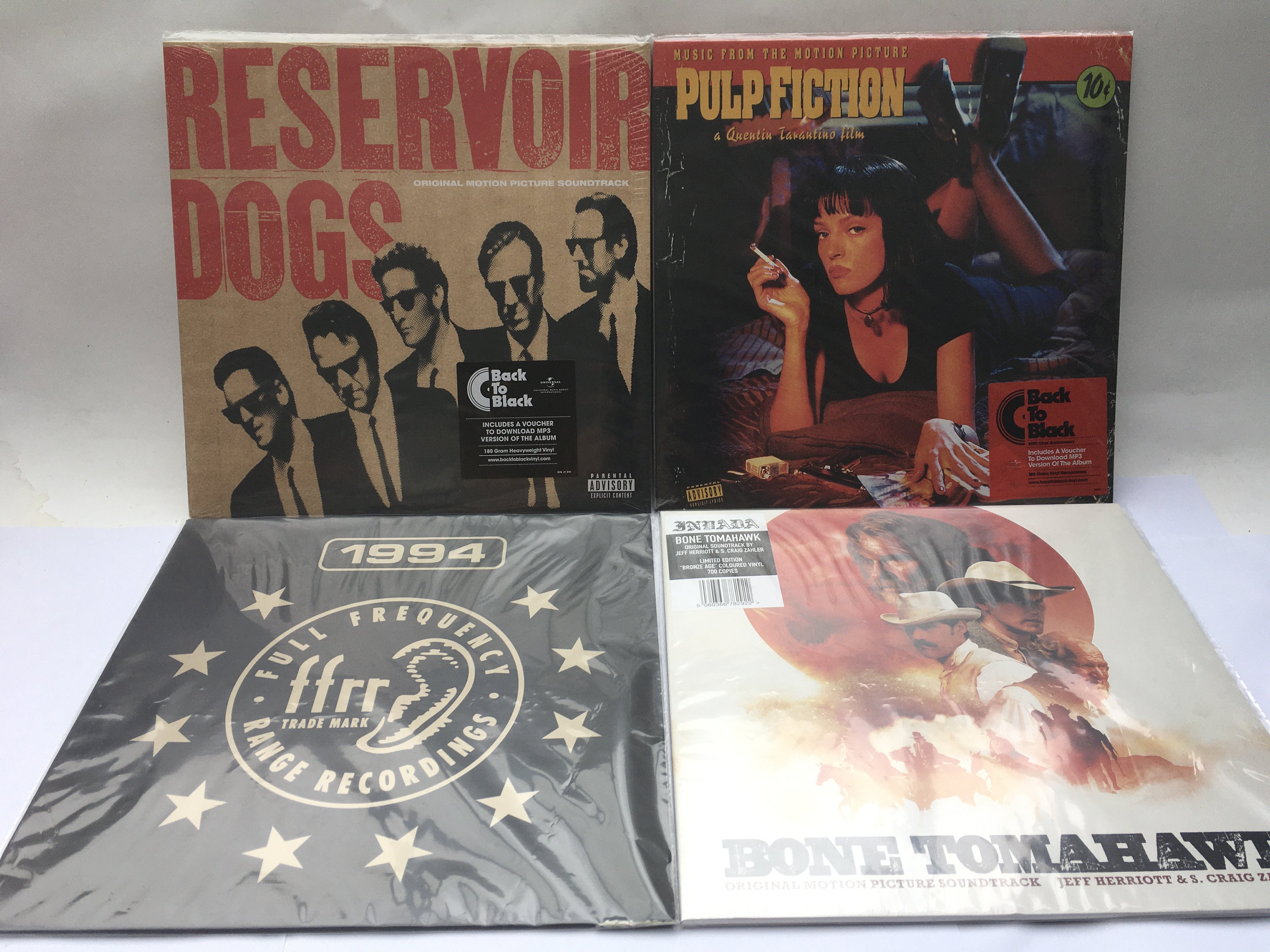 Three sealed and mint 180g soundtrack LPs comprisi