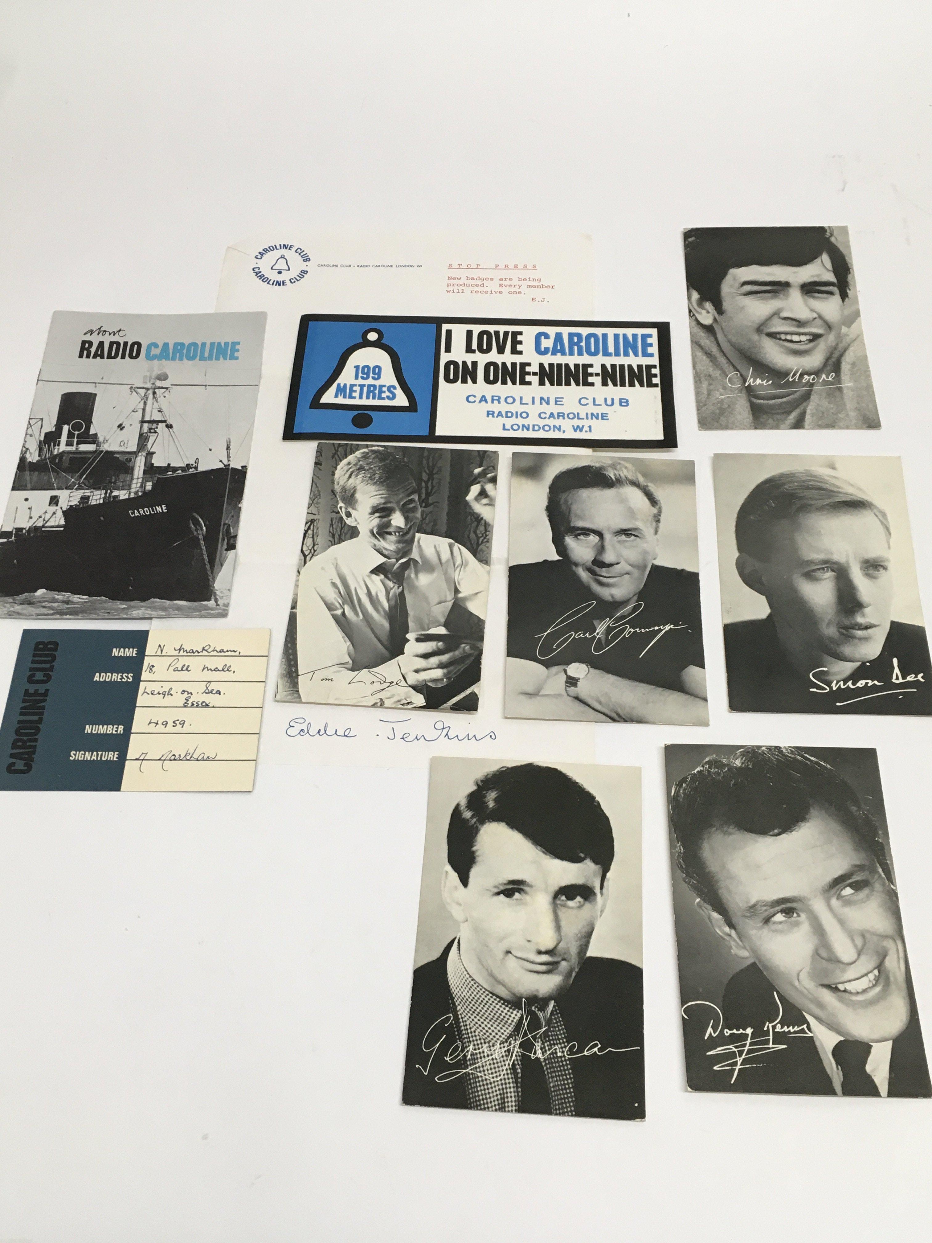 A small collection of Radio Caroline ephemera.