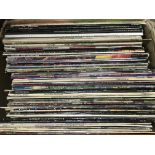 A collection of approx 50 plus rock and pop LPs by