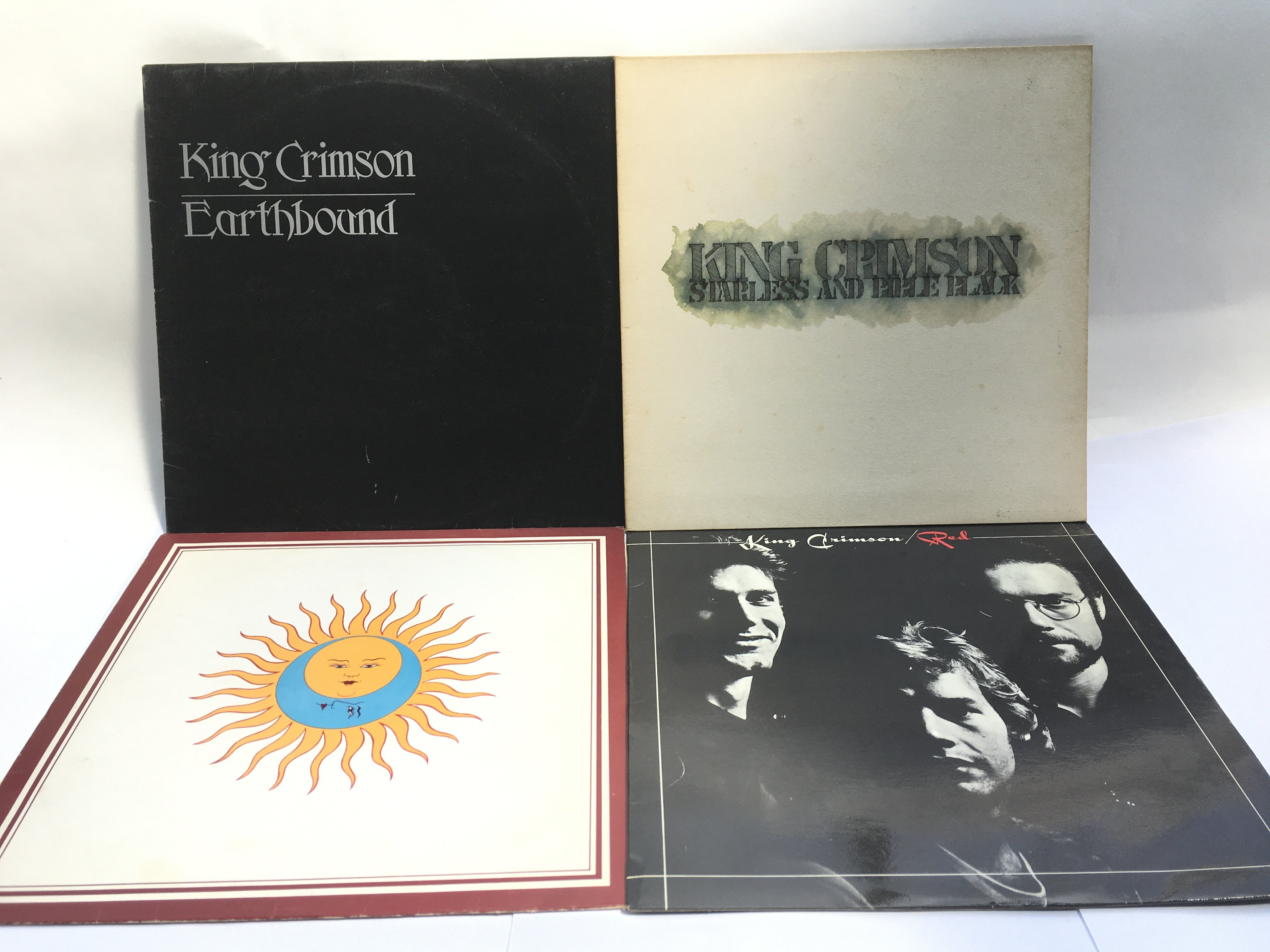 Four King Crimson LPs comprising'Larks Tongues In