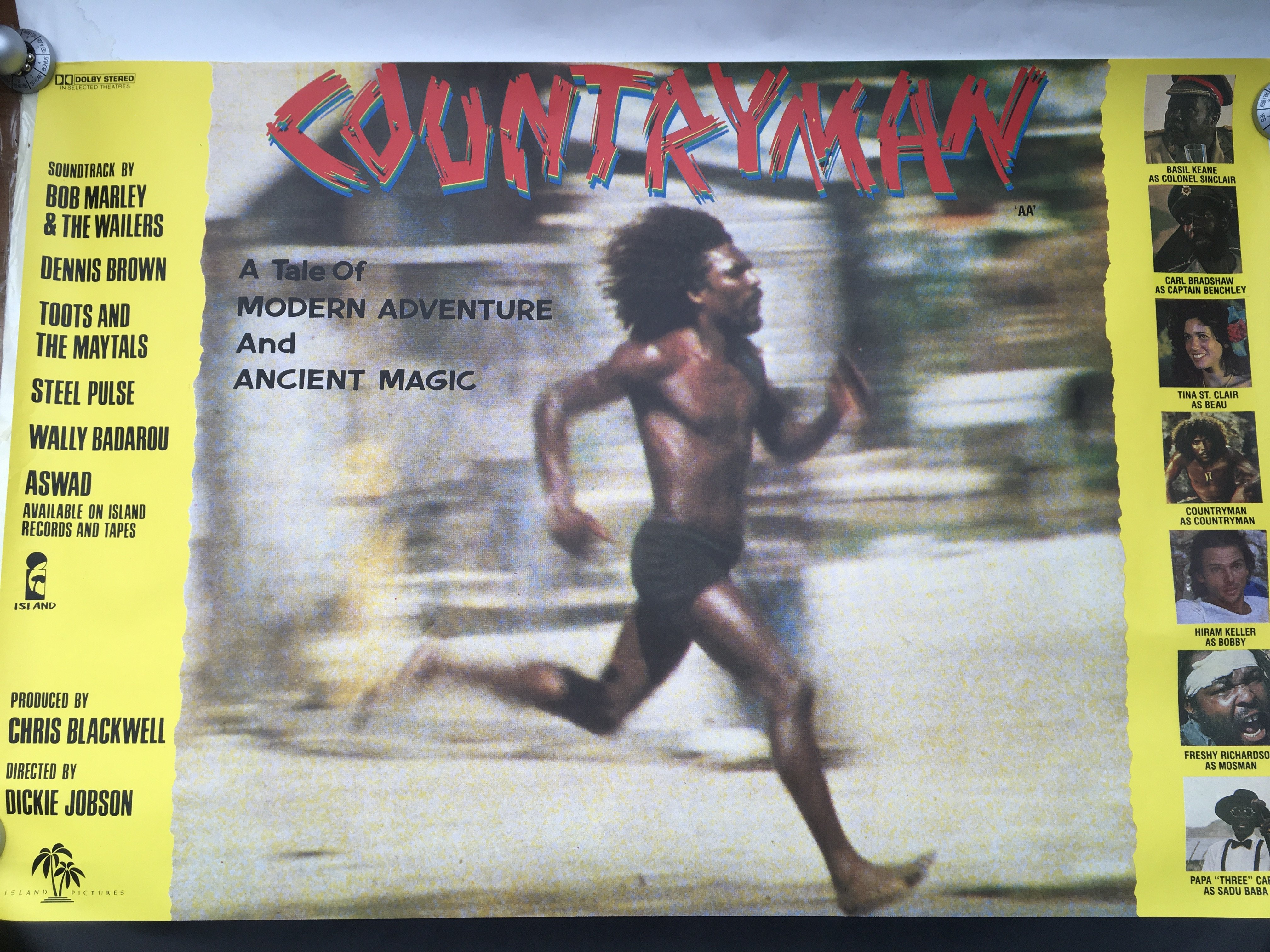 Two original reggae film posters, one for 'Country