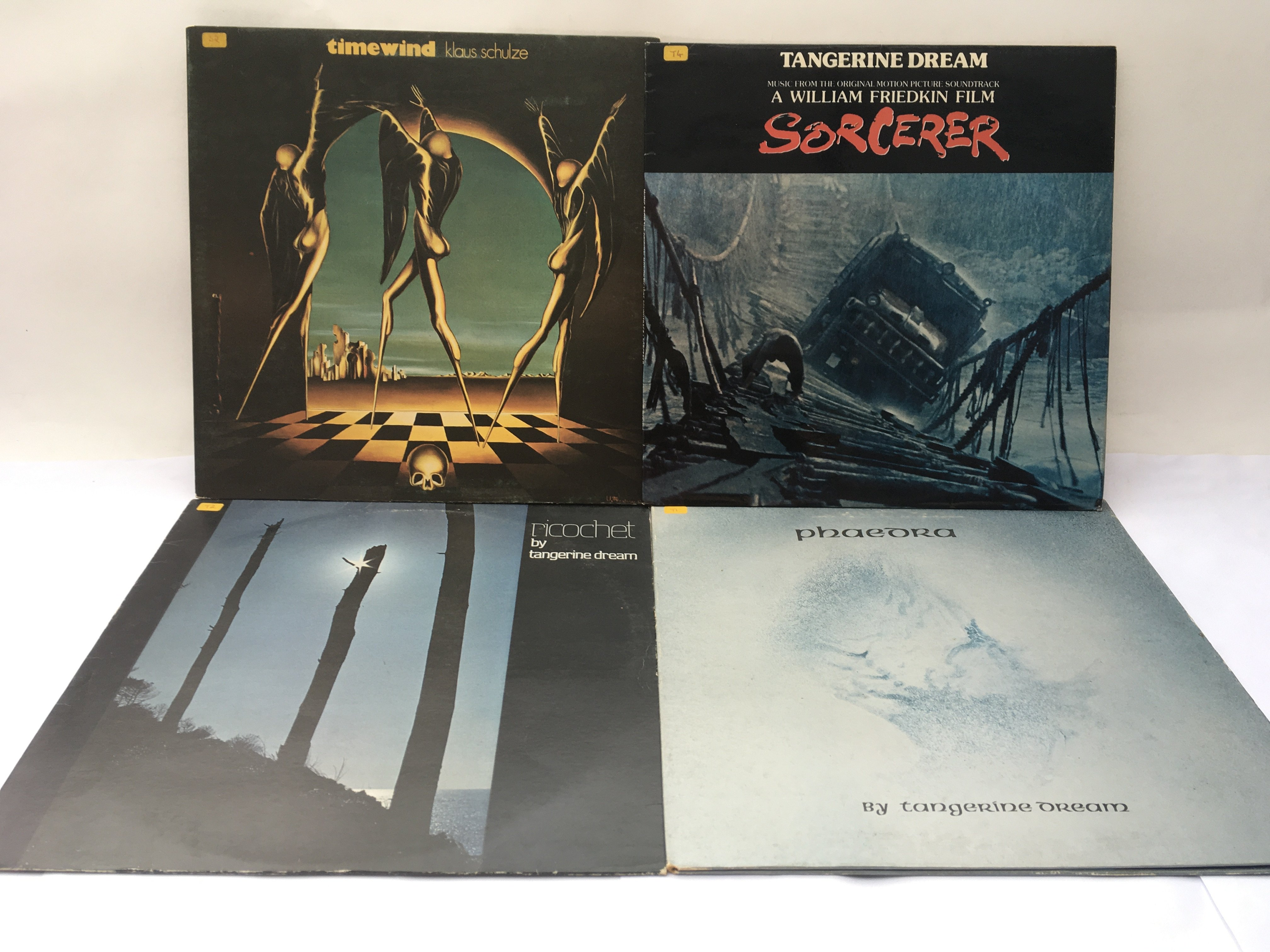 Three Tangerine Dream LPs and 'Timewind' by Klaus