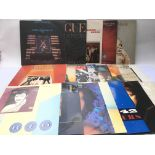 A collection of 1980s electro pop LPs and 12inch r