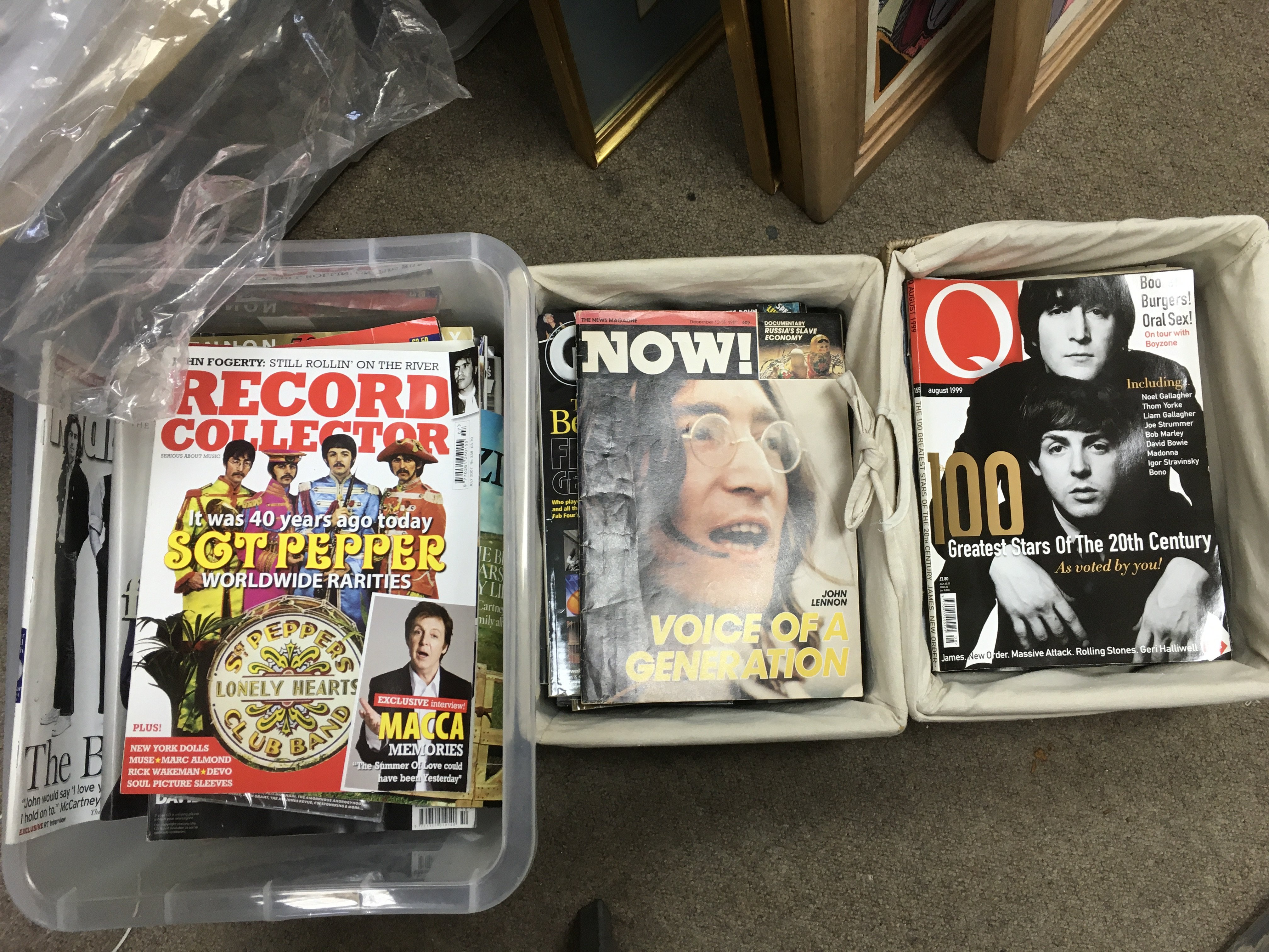 Three boxes of Beatles related music magazines com - Image 2 of 3