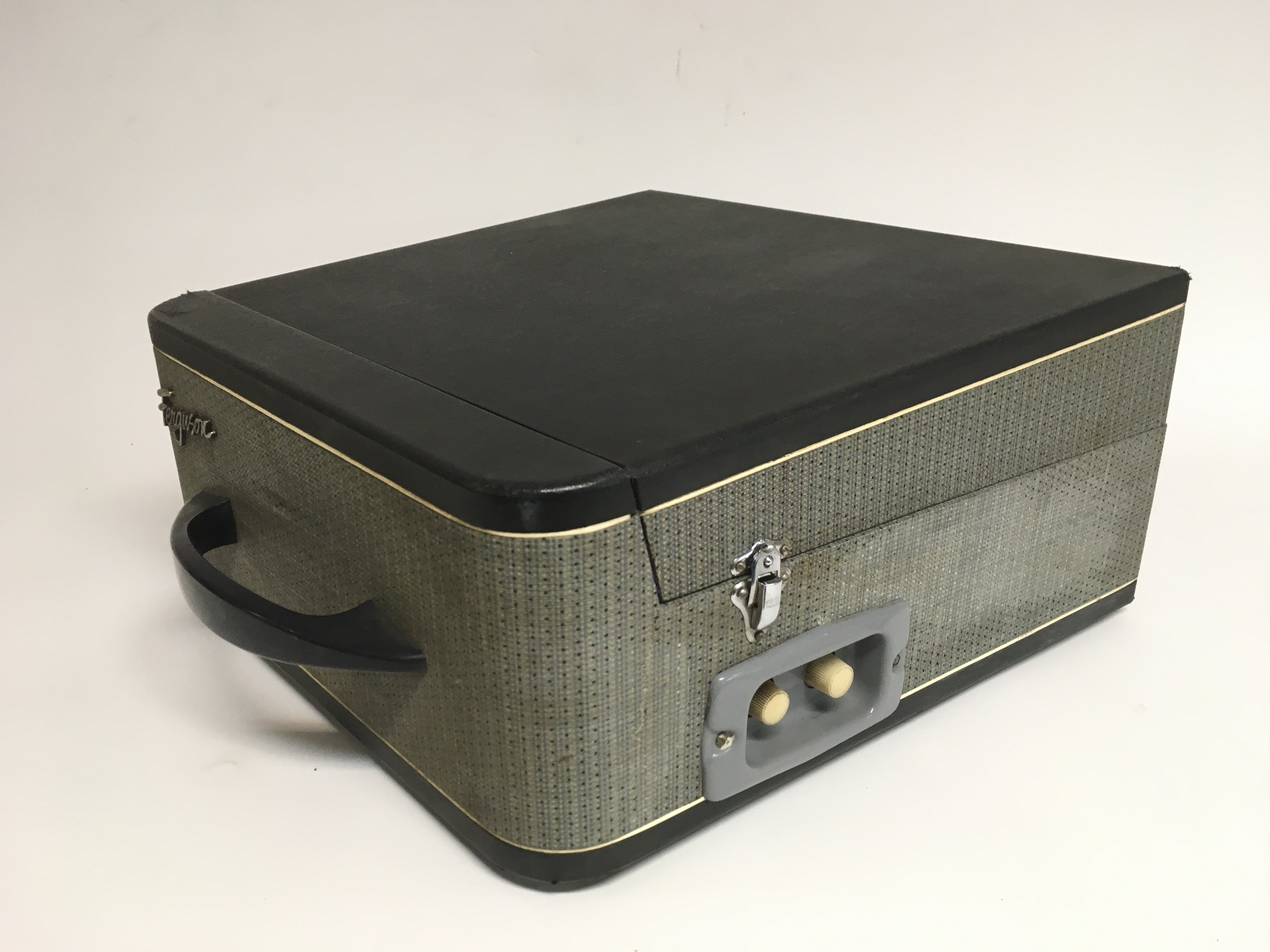 A vintage Ferguson single play record player. Full - Image 2 of 2