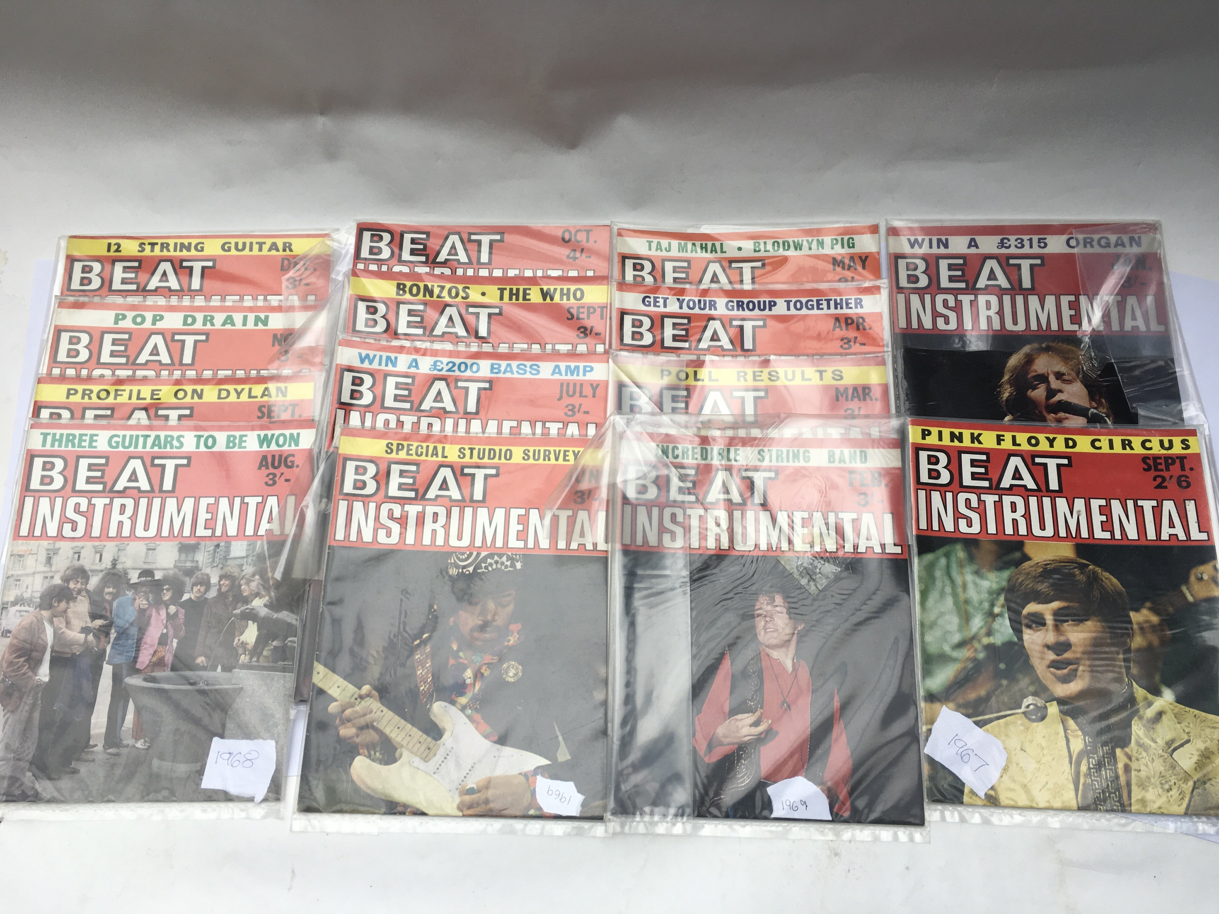 A collection of Beat Instrumental magazine from 19