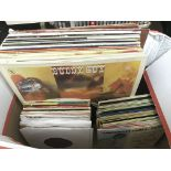 Two boxes of Jazz LPs and 7inch singles, various a
