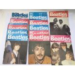 A collection of Beatles book monthlies, mostly 197